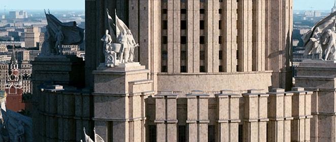 Скульптуры Дворца Советов